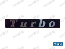 """Renault Clásico 270840 - Anagrama """"TURBO"""" 215mm ( distancia entre agujeros 145mm )"""