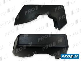 Ford 3404 - Paragolpes trasero negro con agujeros Ford Fiesta 84