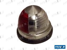 Prom Iluminación 10236 - Piloto universal ovalado rojo cromo 110x450mm