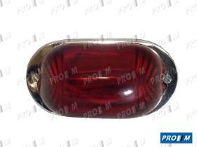 Prom Iluminación 10221 - Piloto ovalado universal rojo