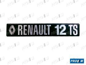 "Renault Clásico 260838M - Anagrama Renault 12 """"RENAULT 12 TS"""""