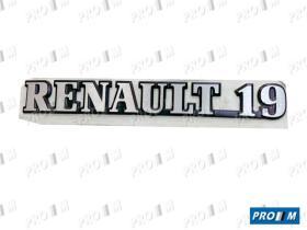 Renault Clásico ANAR19M - Manecilla exterior de puerta izquierda Renault 19 Express