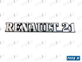 """Renault Clásico R1900M - Anagrama trasero """"""""RENAULT 21"""""""""""