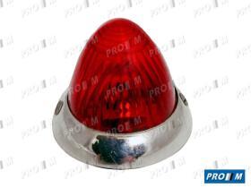 Iluminación (hasta '90) 0122300023 - Piloto redondo rojo universal 35mm tipo Peugeot