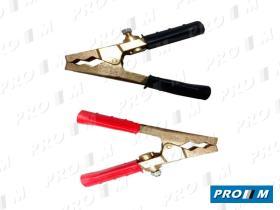 Accesorios F444 - Juego pinzas para cable arranque 350A (2 negras y 2 rojas)