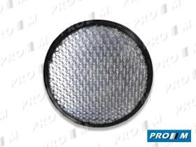 Rinder 704IT - Reflex blanco redondo 80mm adhesivo