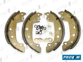Frenos/hidráulica M0191 - Juego zapatas de freno traseras  Bendix Alfa Romeo 145-146