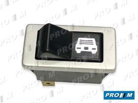 Fae 6224 - Interruptor de elevalunas marco cromado 18x36mm