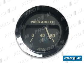 Magneti Marelli 454261 - Reloj presión de aceite redondo cromado Seat 1430 1800