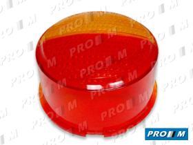 Prom Iluminación 10560 - Tulipa redonda ámbar-roja universal 105x60mm