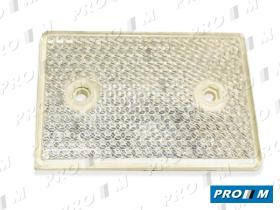 Rinder 23202B - Réflex ámbar rectangular 115X75mm 2 agujeros