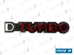 """Material Peugeot 490811 - Anagrama Peugeot """"""""GTD TURBO"""""""""""