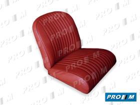 Accesorios JFA1500B - Juego de fundas asiento burdeos Seat 1500