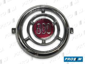 Coche clásico 083 - Anagrama frente redondo Seat 600 D metal (alta calidad)
