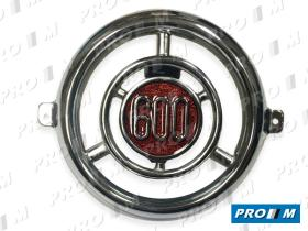 Coche clásico 081AC - Anagrama frente redondo metálico Seat 600 D